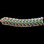 JOMAZ amazing enamel and faux turquoise huge bracelet