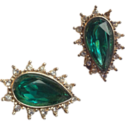 HOBE faux Emerald clip on earrings numbered!