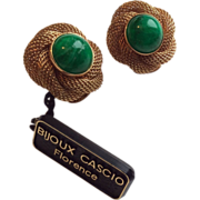 Bijoux CASCIO NwT from the 80's button earrings