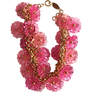 Io Donna made in Italy Big Flower Lucite new old stock Necklace