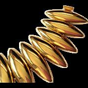 MONET gold plated big wide bracelet