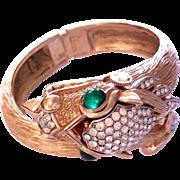 "TRIFARI 1969 "" Something Wilde"" collection Bracelet Cuff watch"