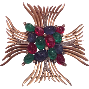 TRIFARI Jewels of India Maltese Cross pin brooch
