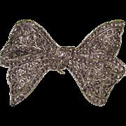 TRIFARI Bow Pin Brooch KtF Mark