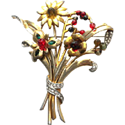 CINER very old mark Brooch Pin °° RARE °° and °° HUGE °° !