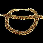 TRIFARI brown & black rhinestones necklace and bracelet SET !!