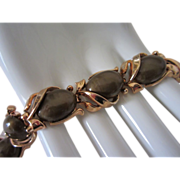 1/2 OFF!  Vintage Crown Trifari Dark Olive Lucite Bracelet