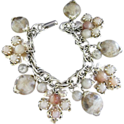 SALE Fabulous Fall-Inspired Lucite Charm Bracelet