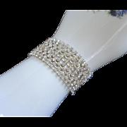 Slinky 9 Row Clear Rhinestone Bracelet