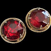 SALE Accessocraft Ruby Red Rhinestone Earrings
