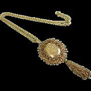 SALE Ornate FLORENZA Gold Tone Locket Necklace