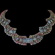 Vintage Pastel Colored Rhinestone Necklace