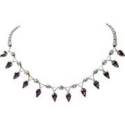 Lovely Amethyst and AB Rhinestone Choker Necklace