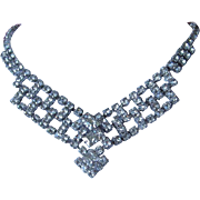 Romantic Clear Rhinestone Choker Necklace