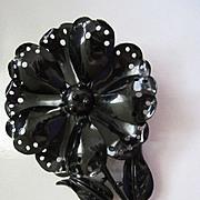 Vintage Classic Hedy Enamel Flower Pin Brooch