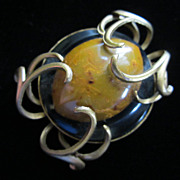 SALE Vintage JEANNE Dimensional Fall Colors Pin Brooch