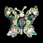 SALE Enchantingly Brilliant Vintage Rhinestone Butterfly Pin Brooch
