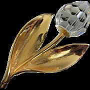 SALE Enchanting Crystal Flower Pin Brooch