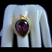 Elizabeth Taylor for Avon Egyptian Falcon Ring, Size 12