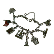 DuBarry Fifth Avenue, NYC , DFA, Charm Bracelet with Safety Chain  1960's
