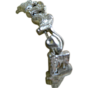 Silver Tone Western Slider Bracelet