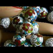 Oriental Cloisonne Beaded Necklace