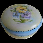 R S Tillowitz Silesia Charming Pansy Dresser Jar,  1920