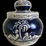 German Pottery Tobacco Jar