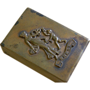 Brest, France Metal Match Cover or Holder, Early 1900's