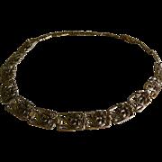 "Art Nouveau Styled Metal Belt, 33"" Length"