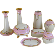 Elegant Hand Painted Dresser Set, 1911 -1913