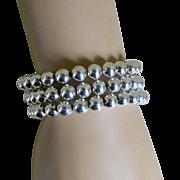 Vintage Elegant Sterling Silver 8mm Bracelet