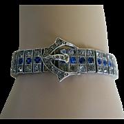 Wachenheimer Brothers Diamonbar Sterling Silver Buckle Bracelet, 1917
