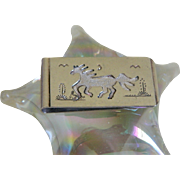 Navajo Story Teller T A Begay Hand Crafted Money Clip