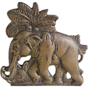 SOLD Vintage Cast Iron Elephant Design Door Stop