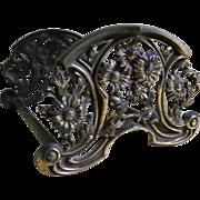 Art Nouveau Metal Expandable Book Rack