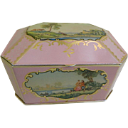 Tin Container with Scenes Made in England