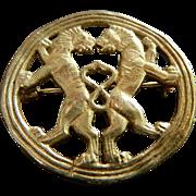 Metropolitan Museum of Art Signed Reproduction of Achaemenian Iran 5 -4th Century B.C. Gold Ro