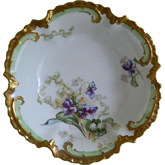 Reserved for Cheryll Limoges Legrand Bowl Decorated by Coronet, 1906 -1920