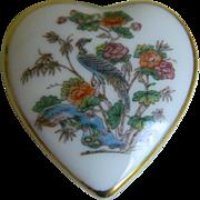 Wedgwood Bone China England Keepsake Heart Shaped Box, 1983