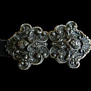 Art Nouveau Metal Belt Buckle