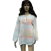 Farines Phenix Flour LTD, Montreal Flour Sack Shirt, 1960's -1970's