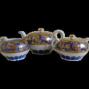 Koransha Teapot, Creamer and Sugar Bowl Set, 1930's