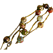 Venetian Murano Wedding Cake Glass Beaded Necklace, 1960's