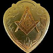 Irvine & Jachens Sterling Silver Masonic Bolo Tie Slide, 1920's - 1930's