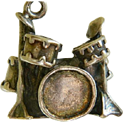 Vintage Sterling Silver Drum Set Charm