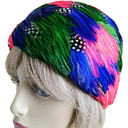 1960's Colored Feather Hat with New York Union Label