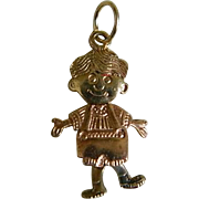 Vintage 14k Yellow Gold Boy Charm with Movable Head and Legs