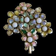 Darling Bouquet of Posies Enamel Brooch 1940-1950's