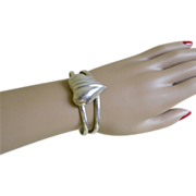 925 Sterling Silver Elegant Cuff Bracelet